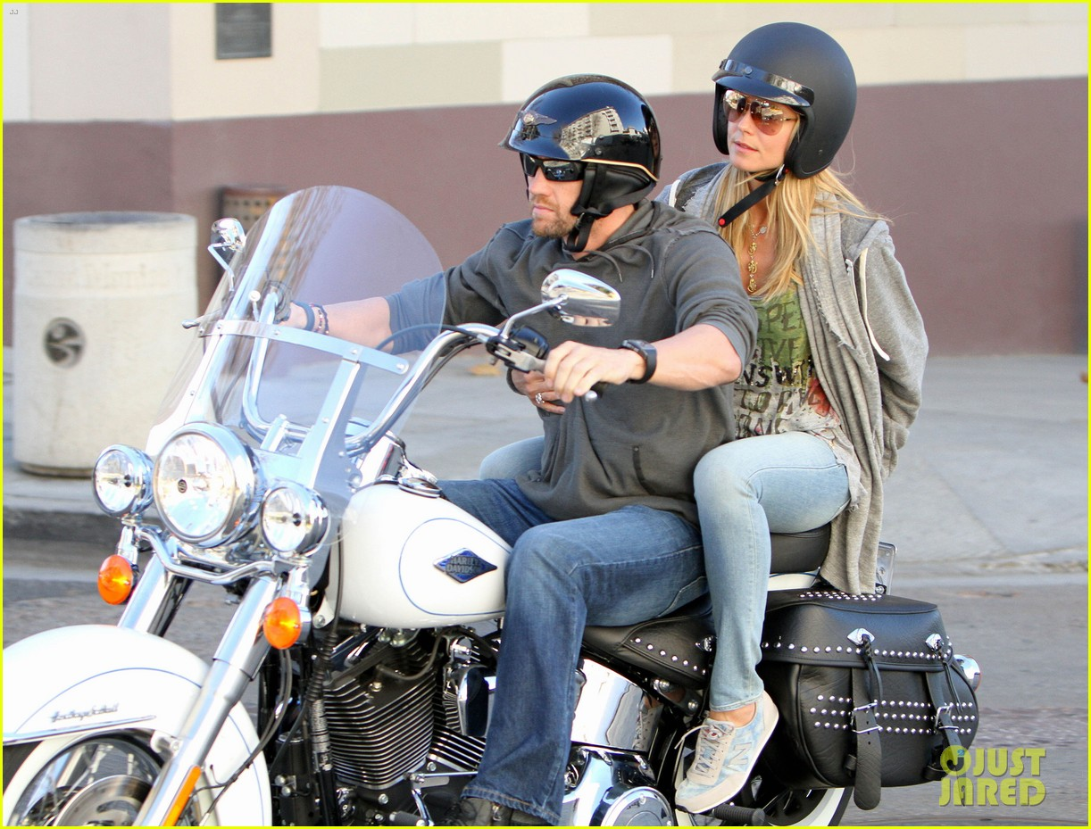 heidi klum martin kirsten motorcycle couple 212795662