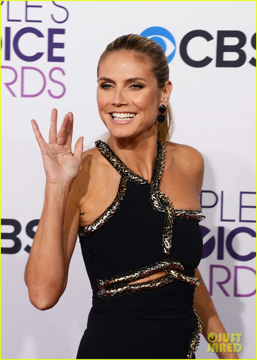 heidi klum peoples choice awards 2013 red carpet 082787784
