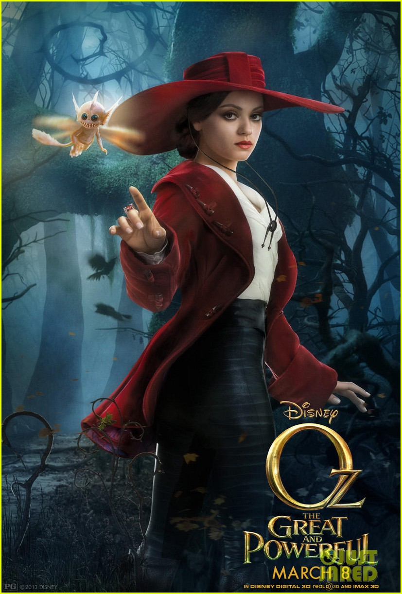 mila kunis michelle williams new oz the great and powerful posters 01
