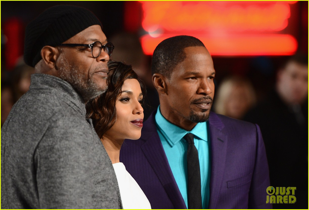 kerry washington jamie foxx django unchained uk premiere 18