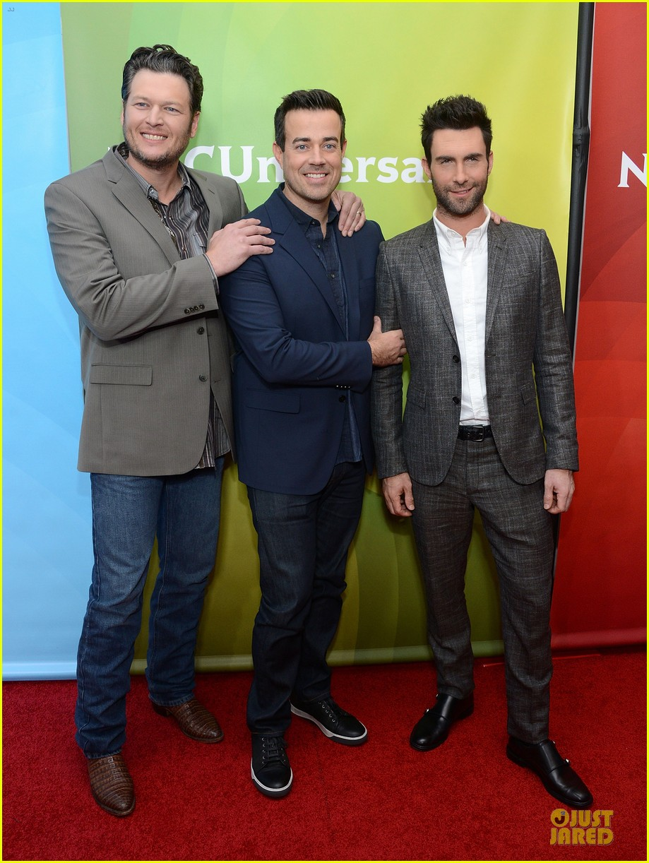 adam levine & blake shelton the voice tca press tour 012785924
