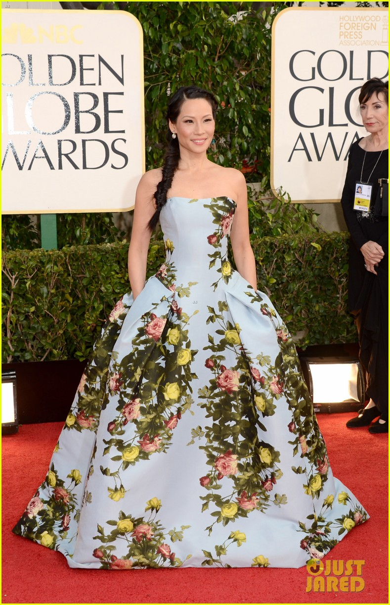 lucy liu golden globes 2013 red carpet 062791024