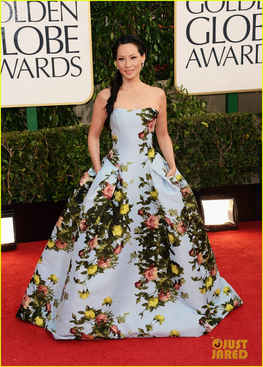 lucy liu golden globes 2013 red carpet 092791027