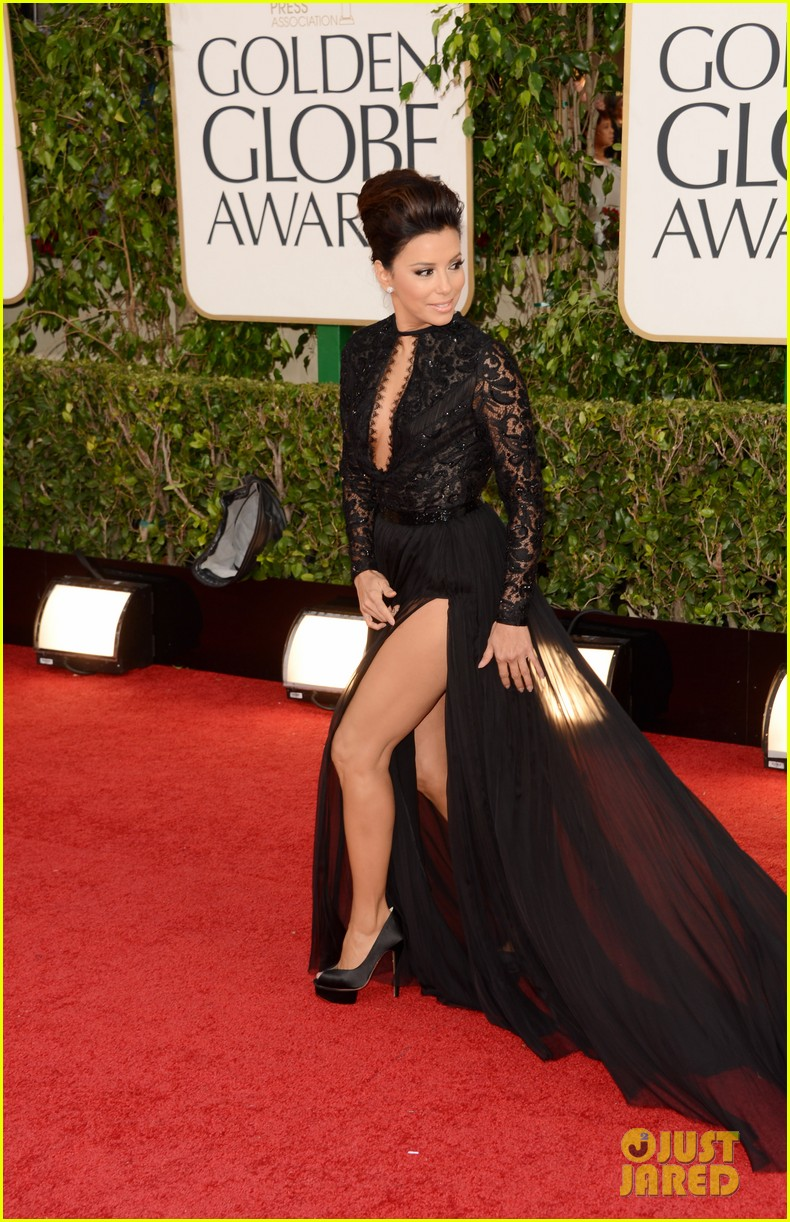 Eva longoria golden globes dress