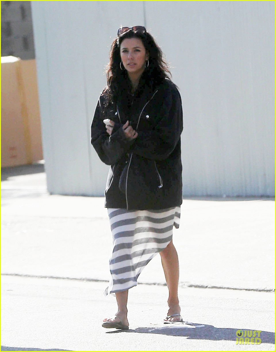 eva longoria red hot work day in santa monica 012786366