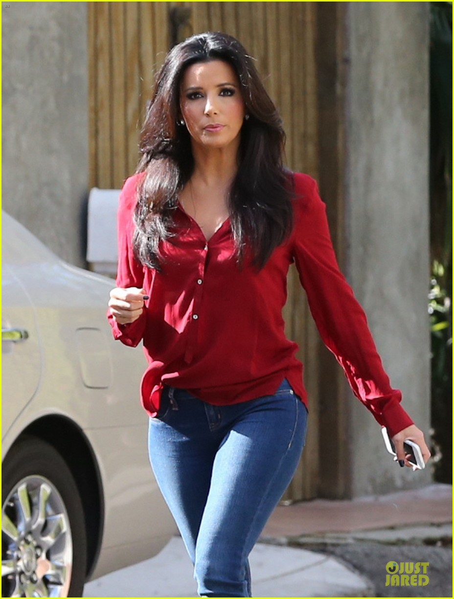 eva longoria red hot work day in santa monica 042786369