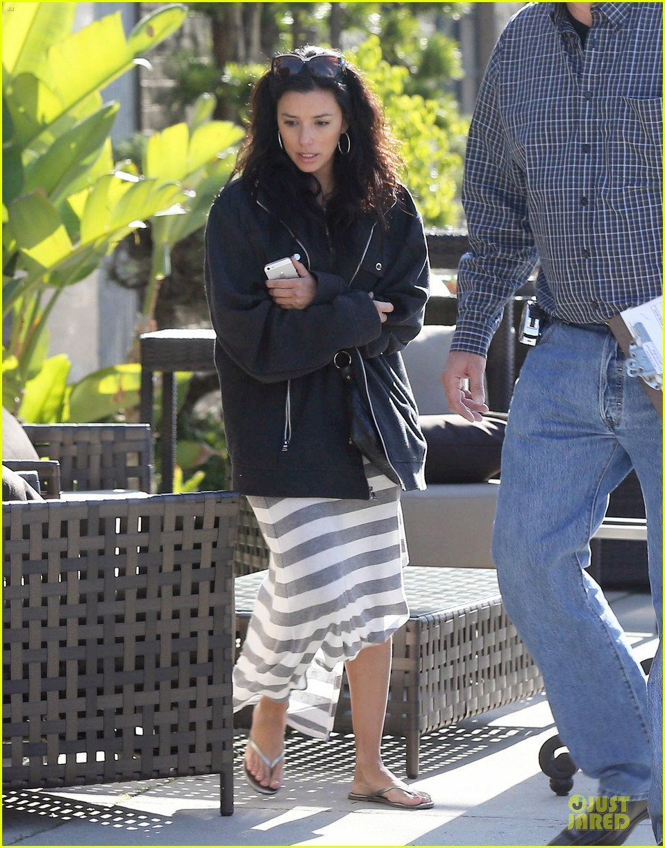 eva longoria red hot work day in santa monica 082786373