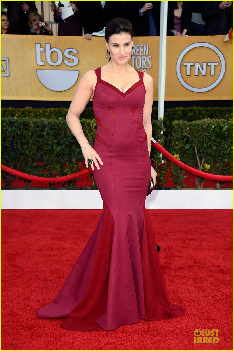 idina menzel taye diggs sag awards 2013 red carpet 01
