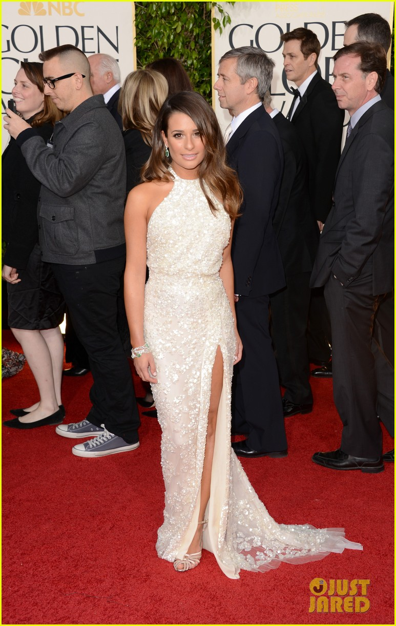 lea michele golden globes 2013 red carpet 04