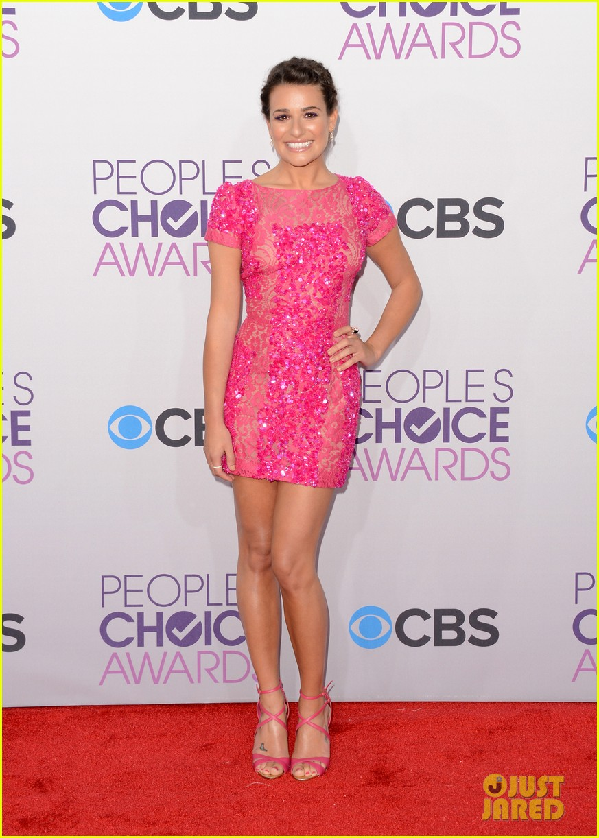 lea michele peopels choice awards 2013 red carpet 012787739