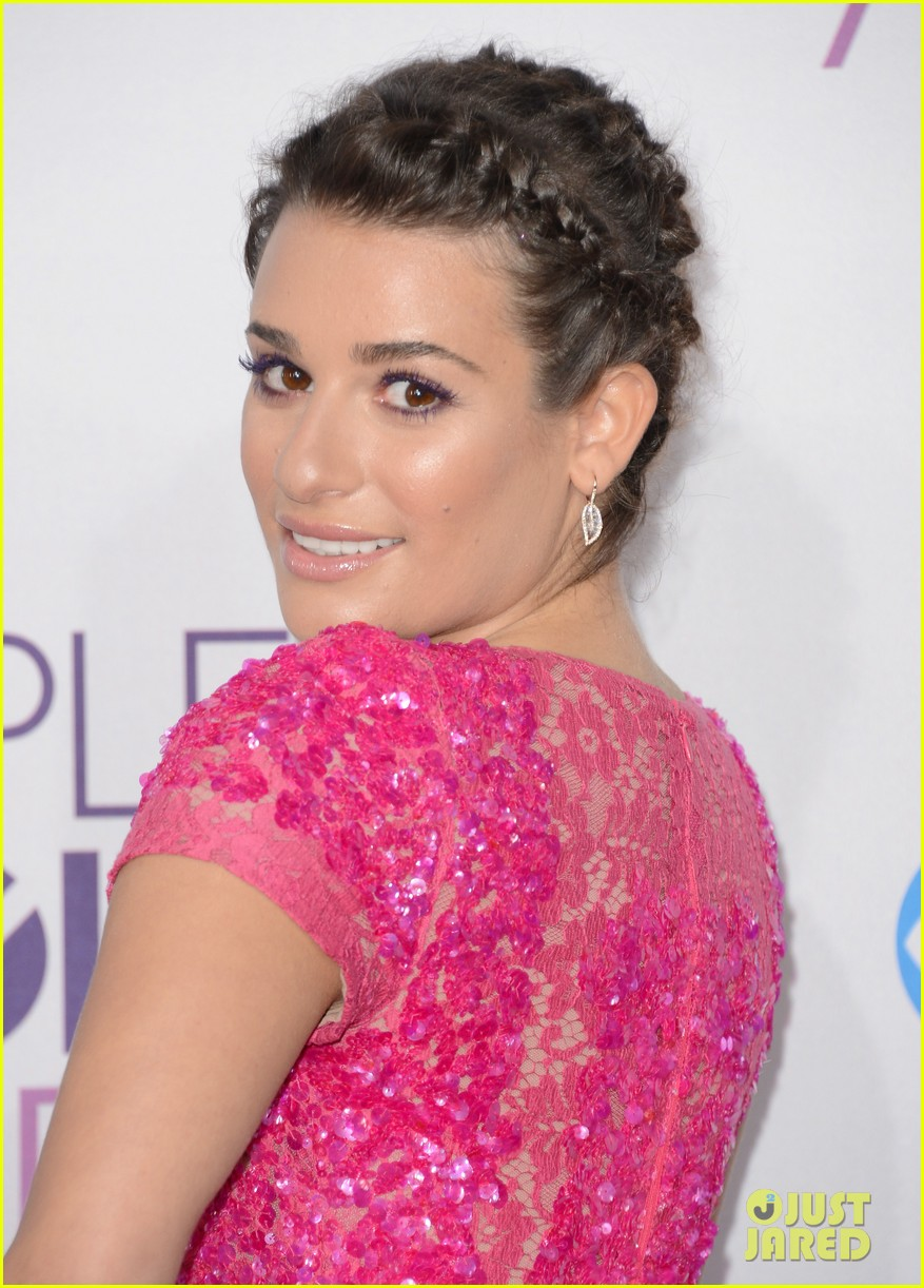 lea michele peopels choice awards 2013 red carpet 042787742