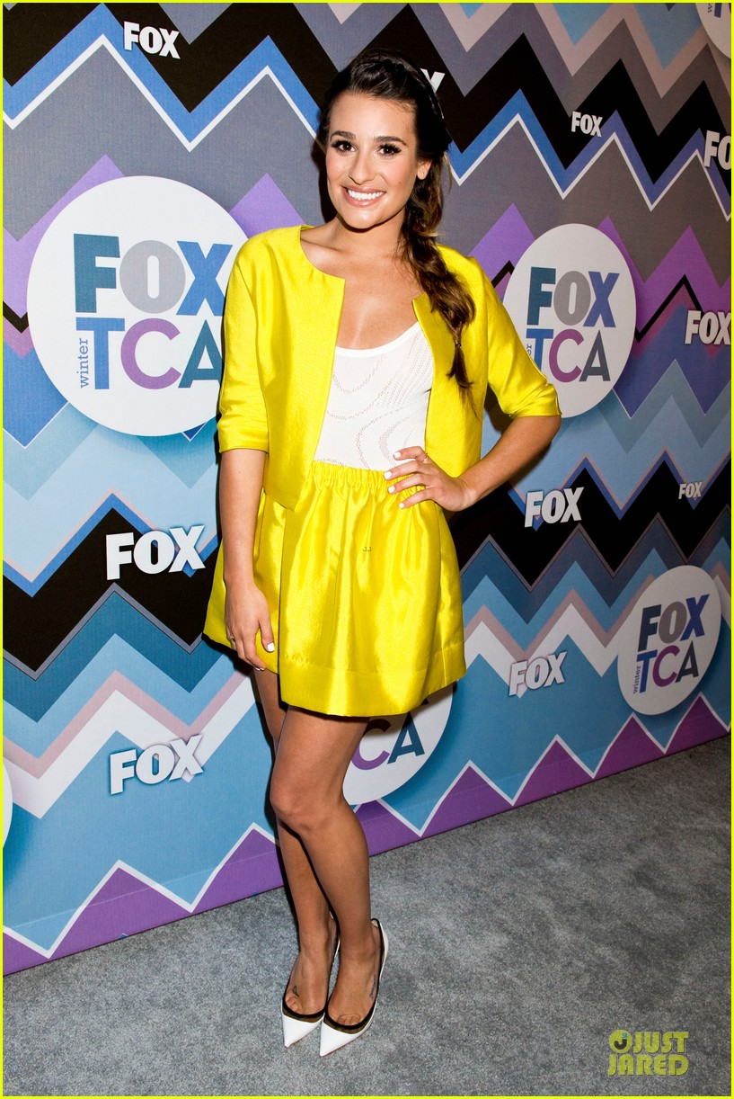 lea michele tca fox all star party with glee cast 112787375