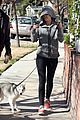 miley cyrus hoodie walk with pet pooch 06