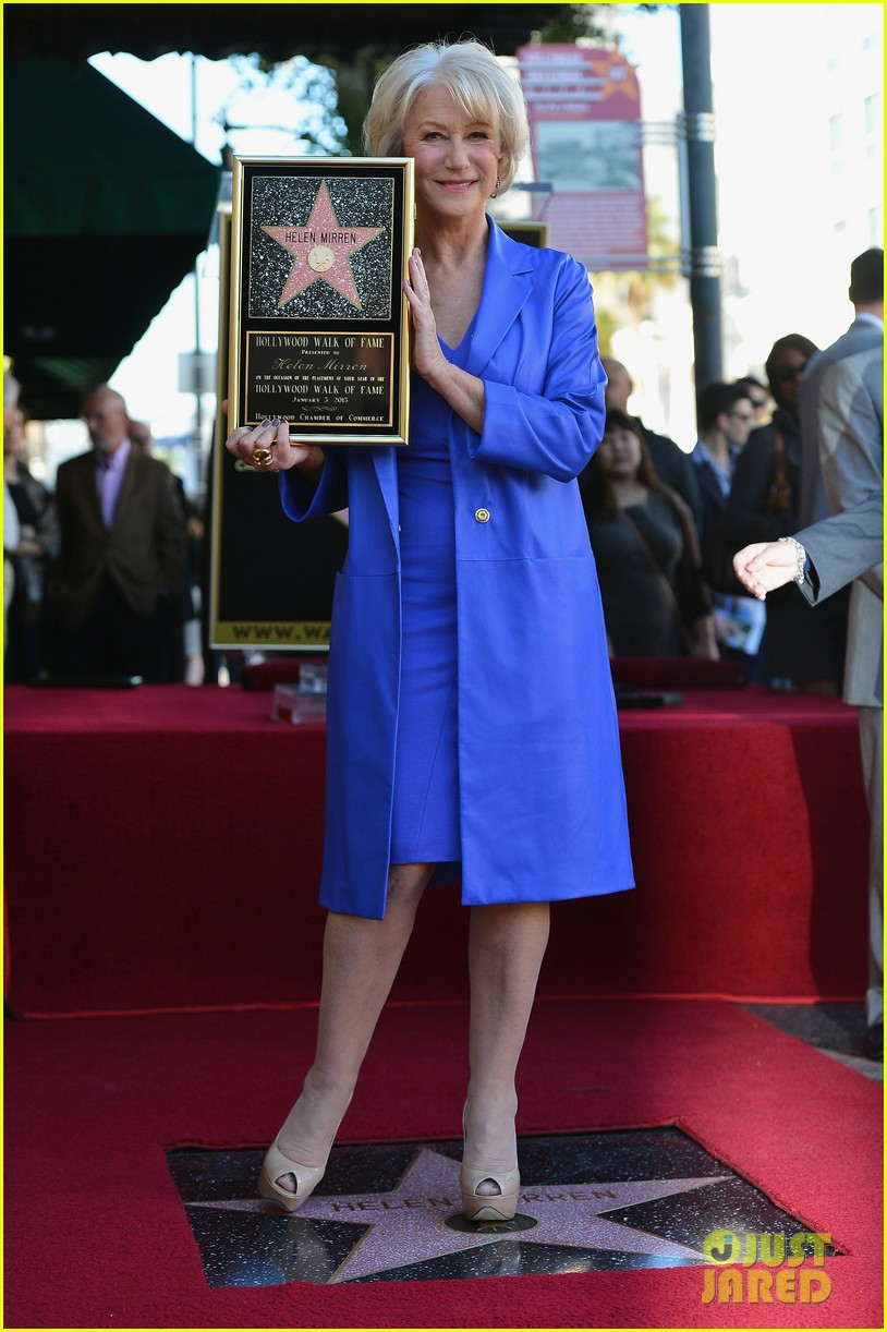 helen mirren receives star on hollywood walk of fame 01