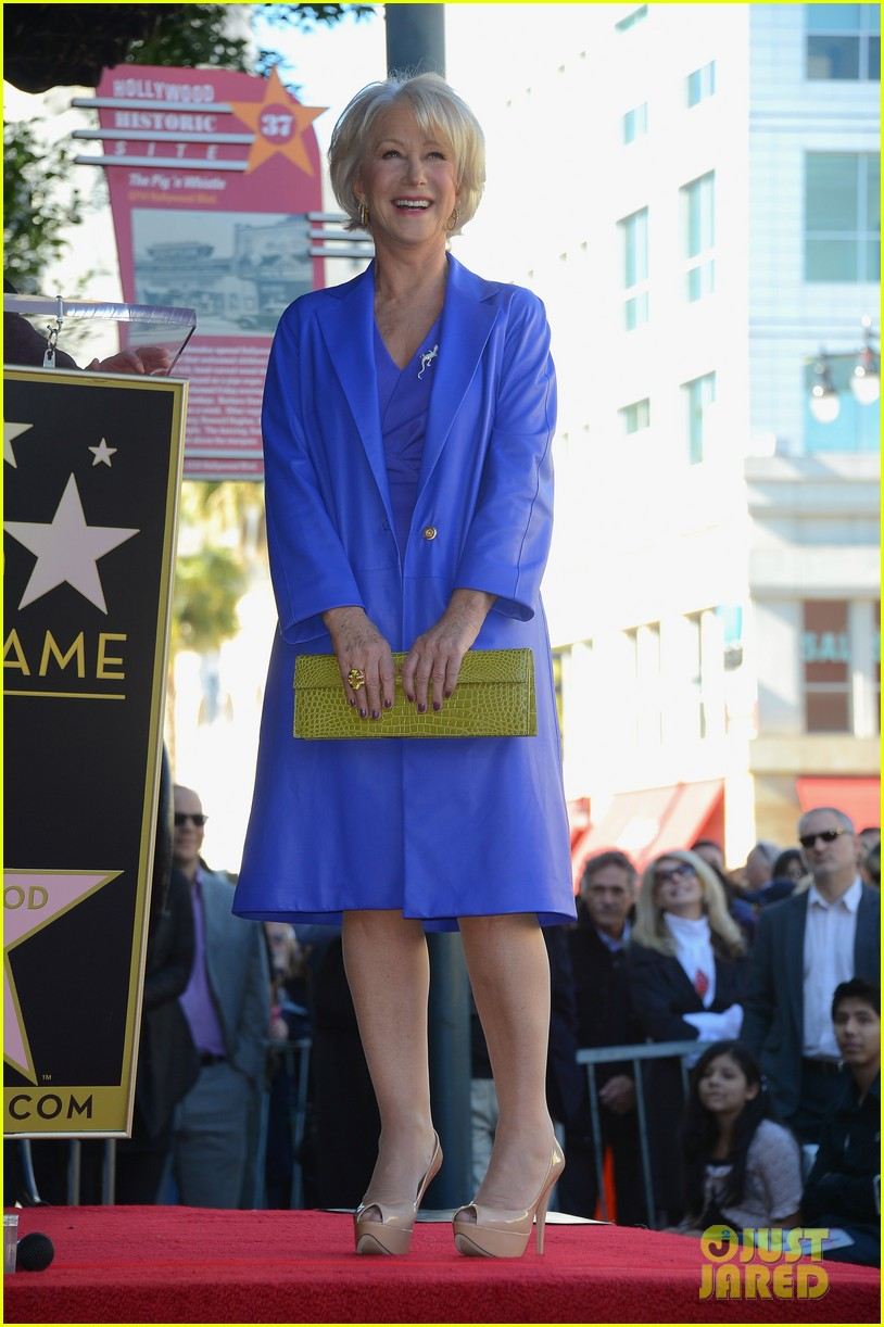 helen mirren receives star on hollywood walk of fame 132784355