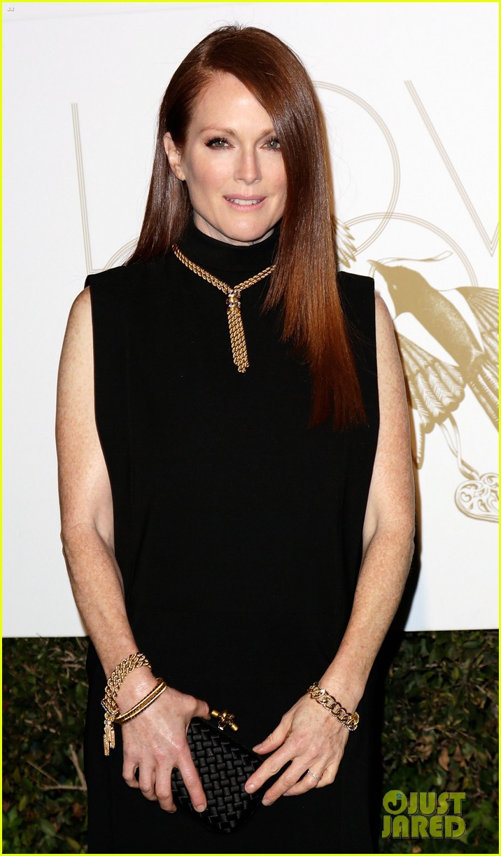 julianne moore dita von teese lovegold pre golden globes party 012790699