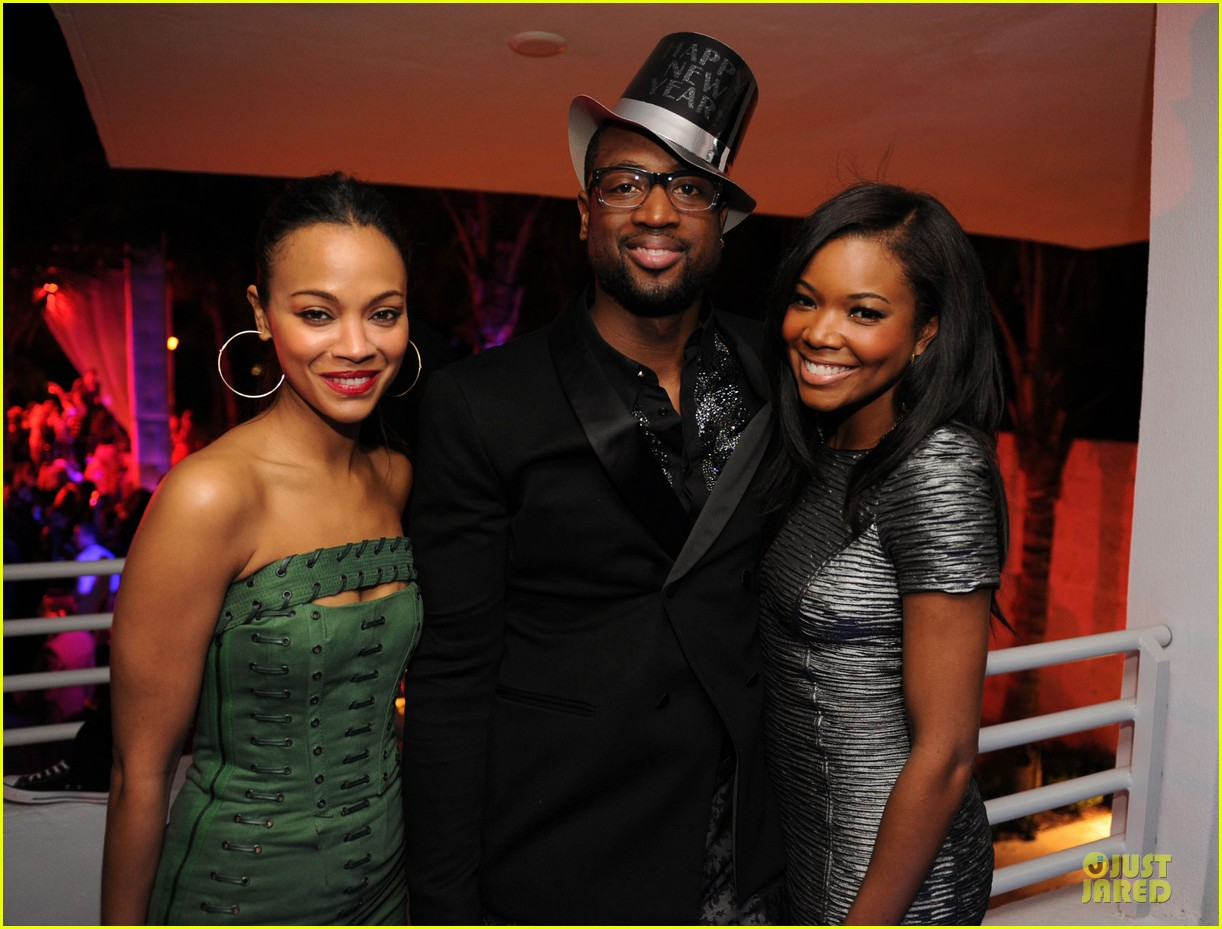zoe saldana & gabrielle union new years eve countdown in miami 042783410