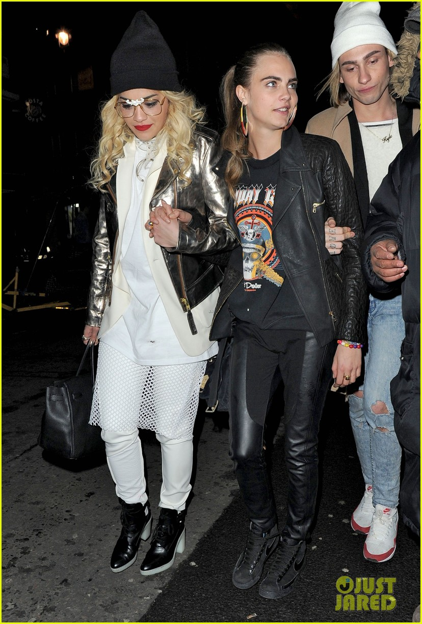 rita ora cara delevingne girls night out 11