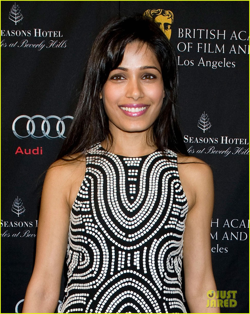 freida pinto dev patel bafta tea party 2013 022789997