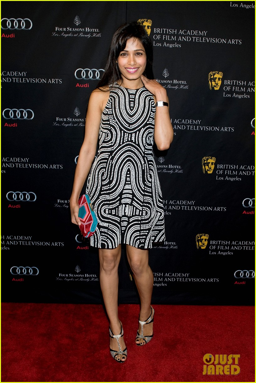 freida pinto dev patel bafta tea party 2013 07