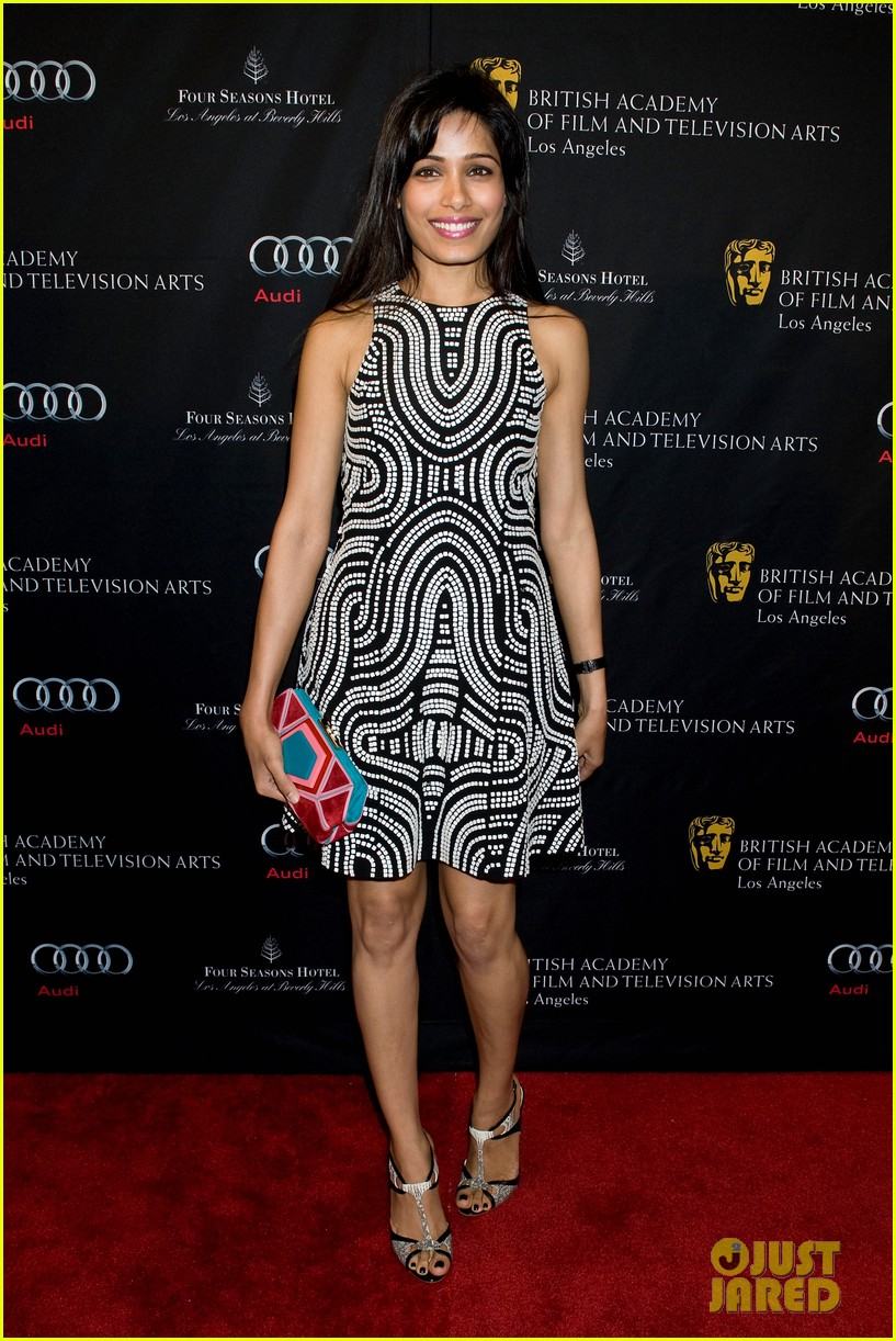 freida pinto dev patel bafta tea party 2013 082790003