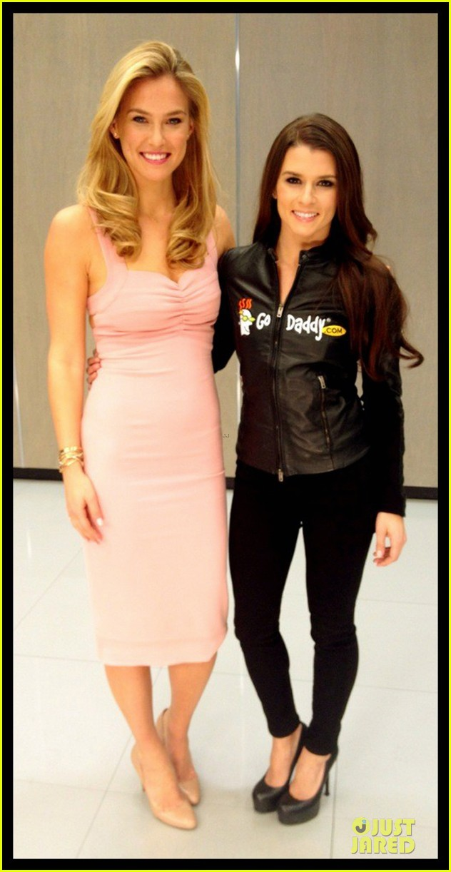bar refaeli & danica patrick go daddy super bowl gals 052785137