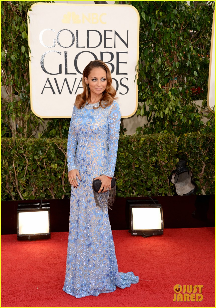 nicole richie golden globes 2013 red carpet 052790809