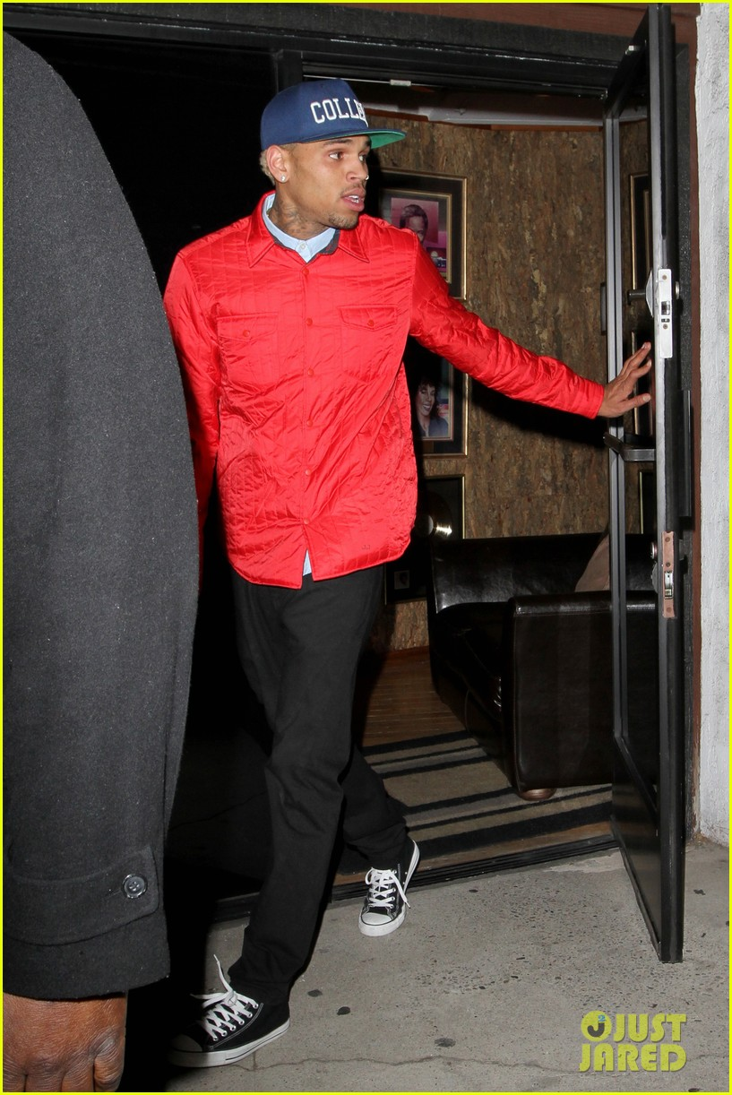 rihanna chris brown separate studio exits 202794203