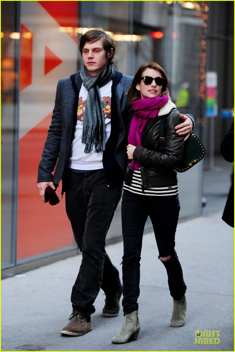 emma roberts & evan peters modern museum of modern art visit 01