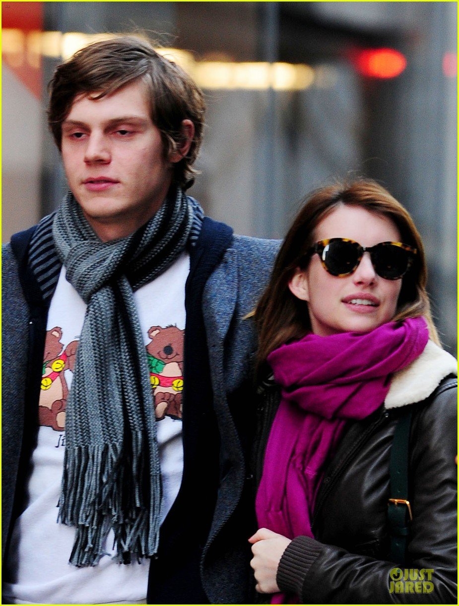 emma roberts & evan peters modern museum of modern art visit 04