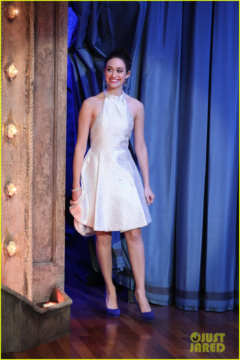 emmy rossum late night with jimmy fallon appearance 03