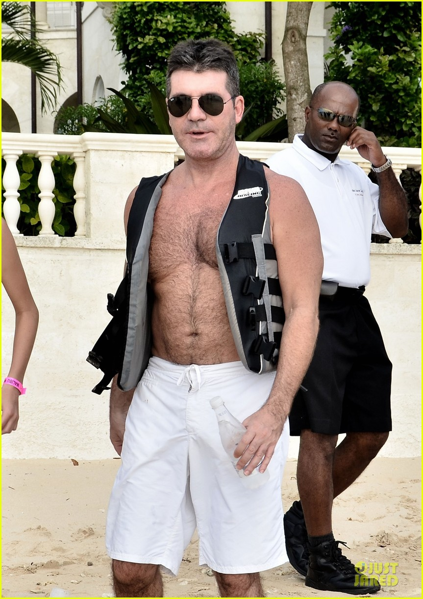 simon cowell shirtless new years eve with mezhgan huissany 042783285