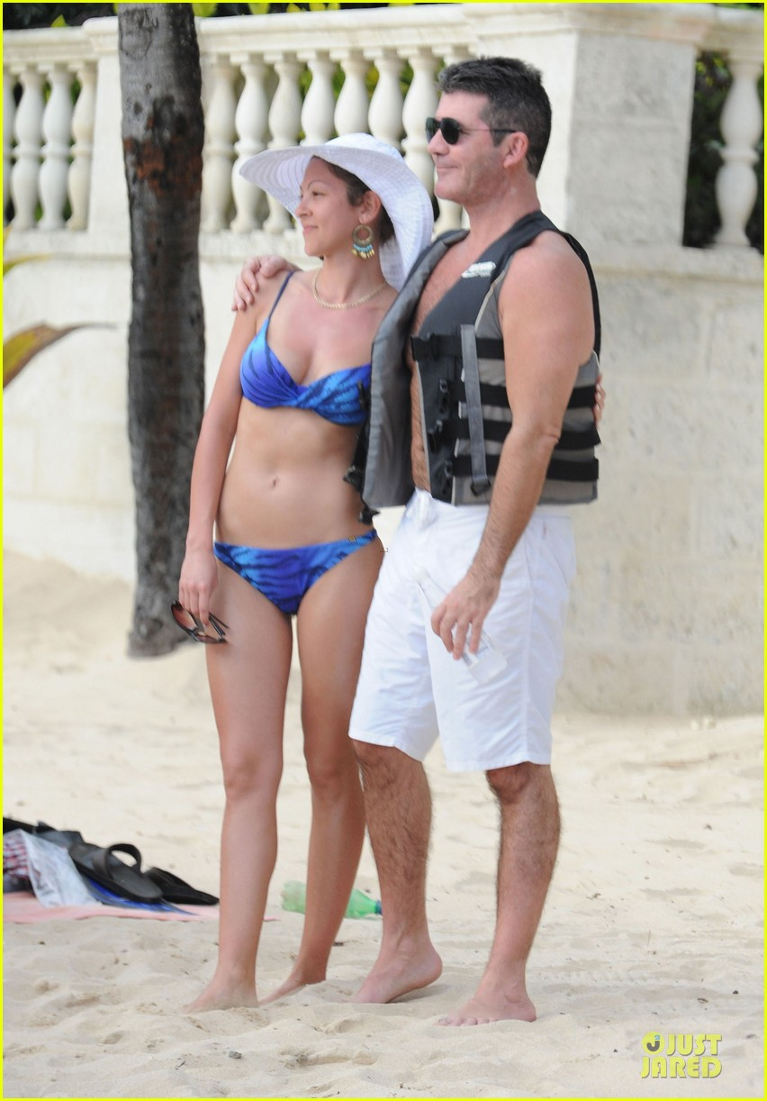 simon cowell shirtless new years eve with mezhgan huissany 332783314