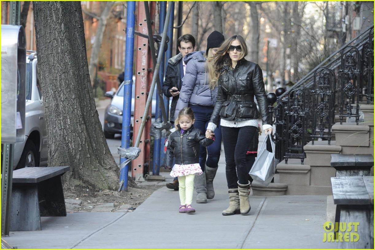 sarah jessica parker twins matching leather jackets 192786806