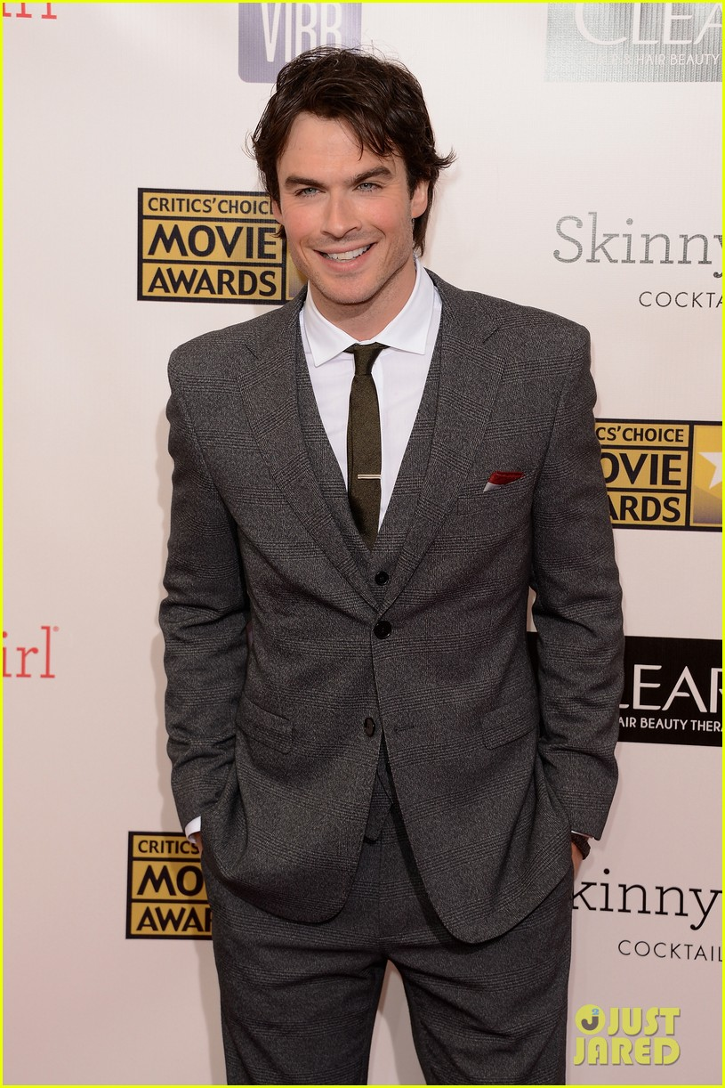 ian somerhalder nina dobrev critics choice awards 2013 092788893