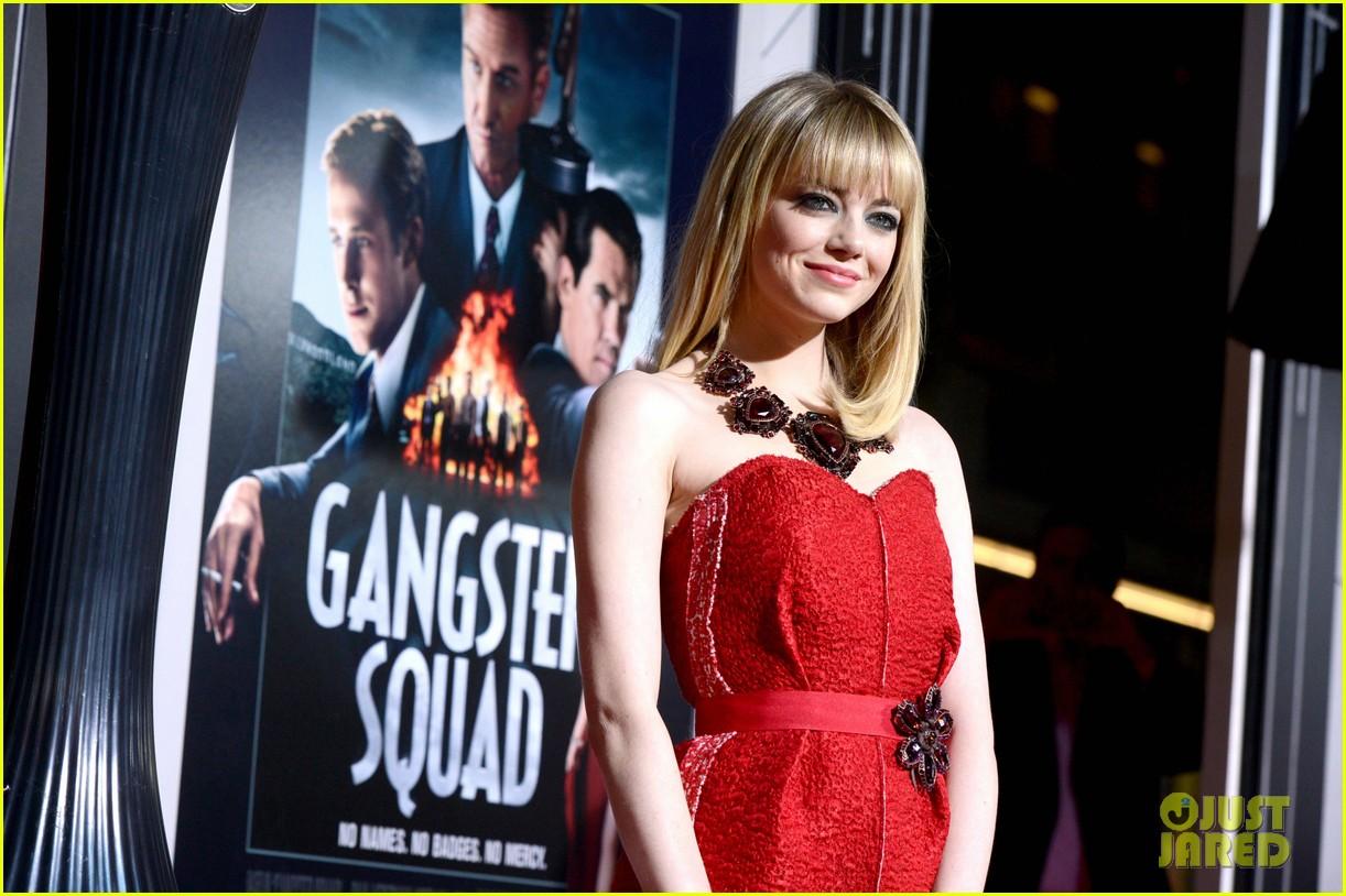 emma stone ryan gosling gangster squad premiere 172786608