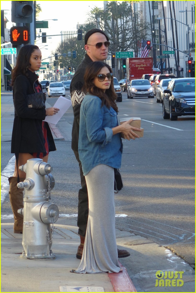 channing tatum bald head with pregnant jenna dewan 012793384