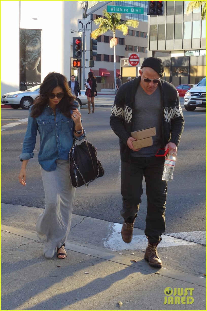 channing tatum bald head with pregnant jenna dewan 032793386