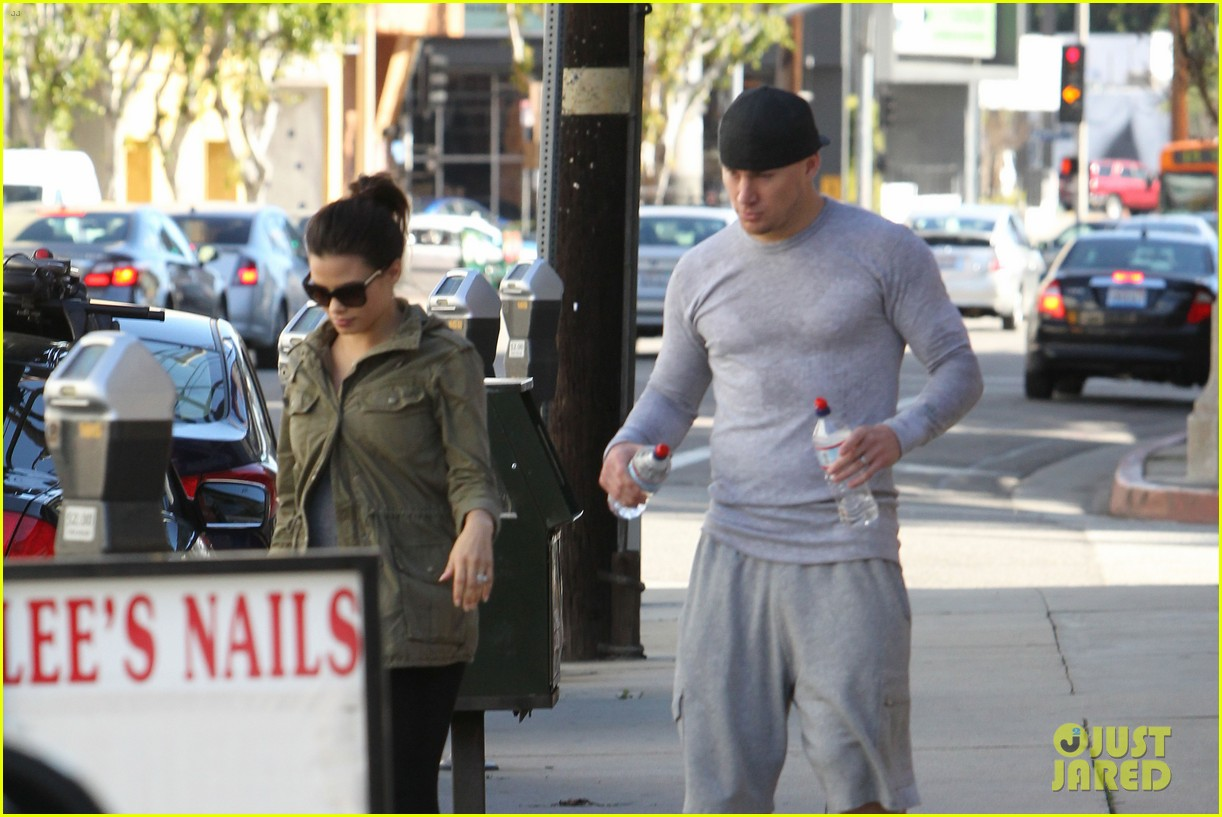 channing tatum jenna dewan workout couple 132800299