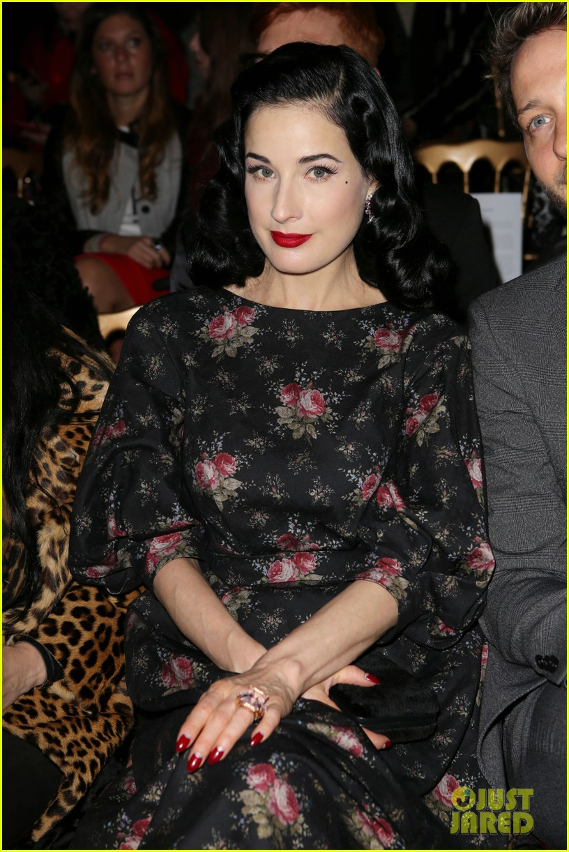 dita von teese elie saab yuliana sergenko shows in paris 052797632