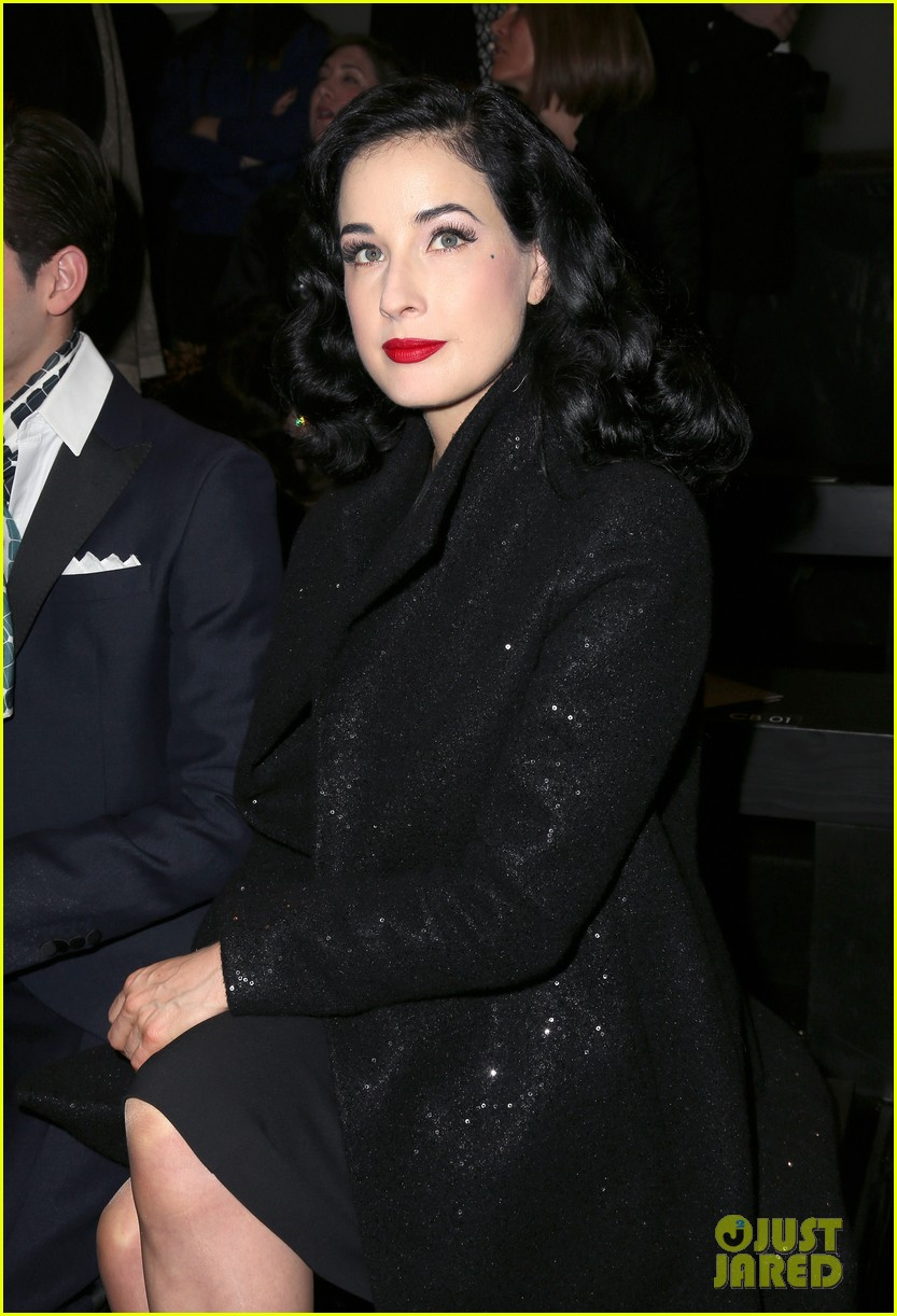 dita von teese elie saab yuliana sergenko shows in paris 082797635
