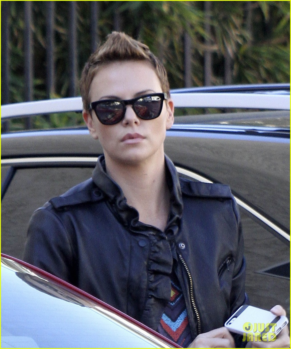 charlize theron fauxhawk hairstyle at the dance studio 022802094