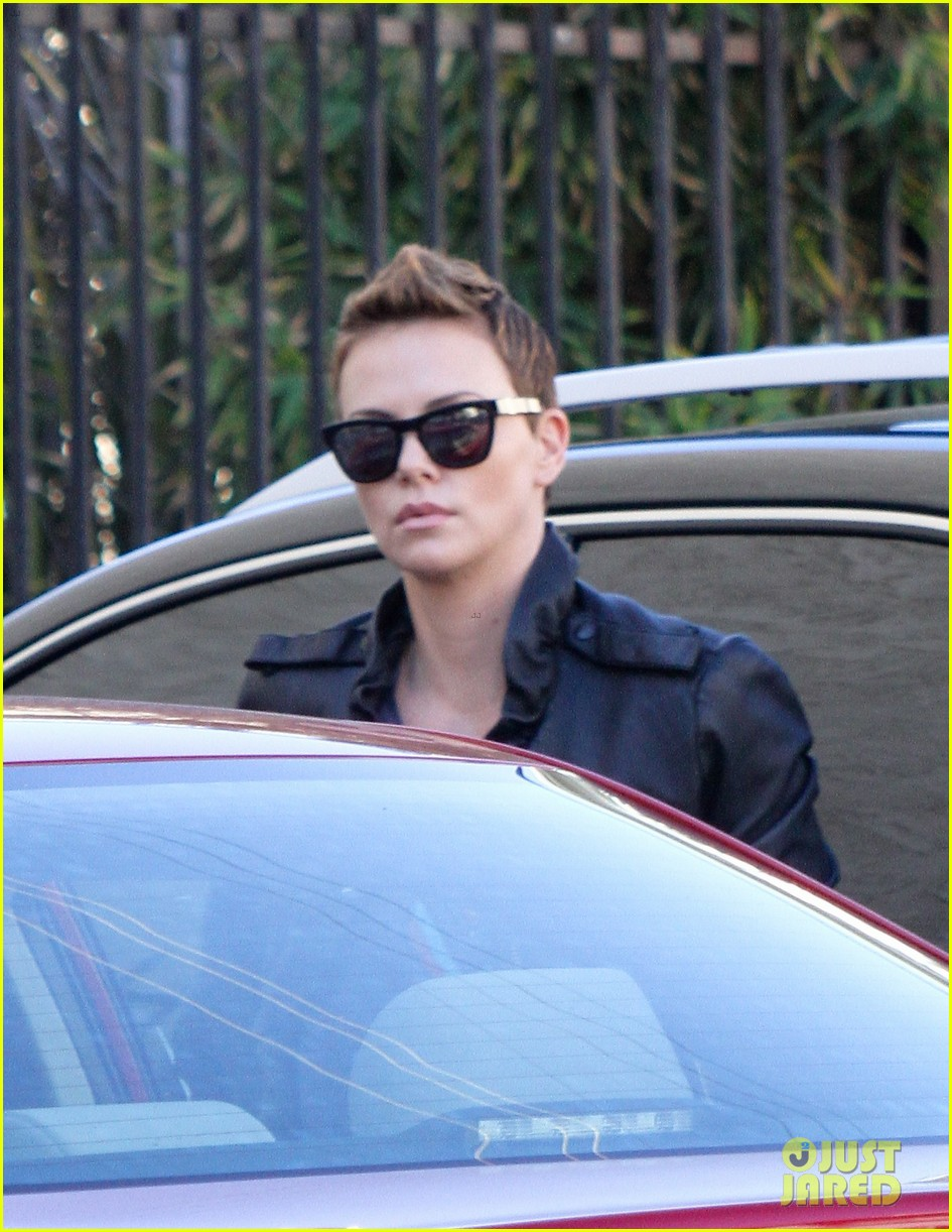 charlize theron fauxhawk hairstyle at the dance studio 092802101