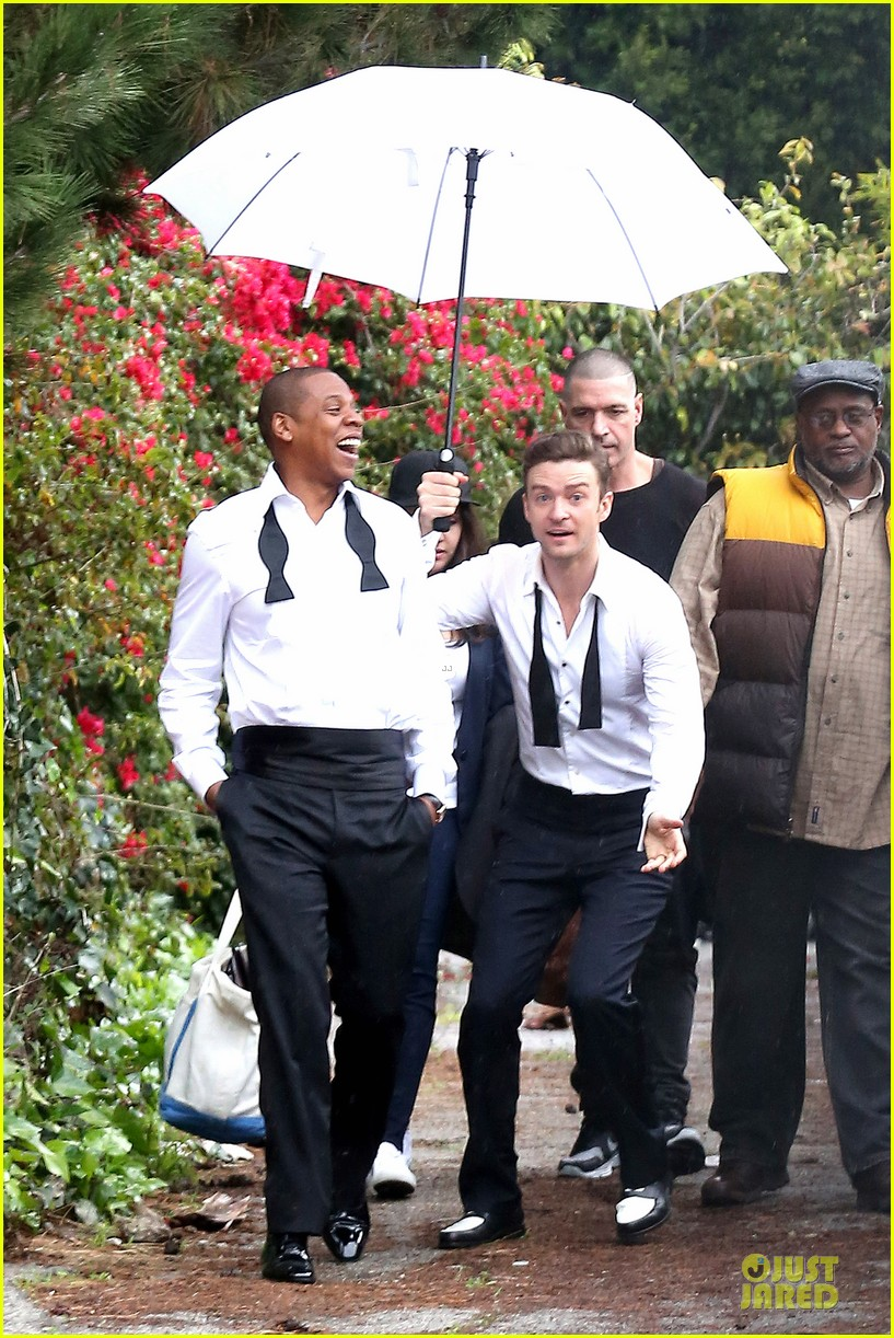 justin timberlake suit & tie music video shoot with jay z 082798641