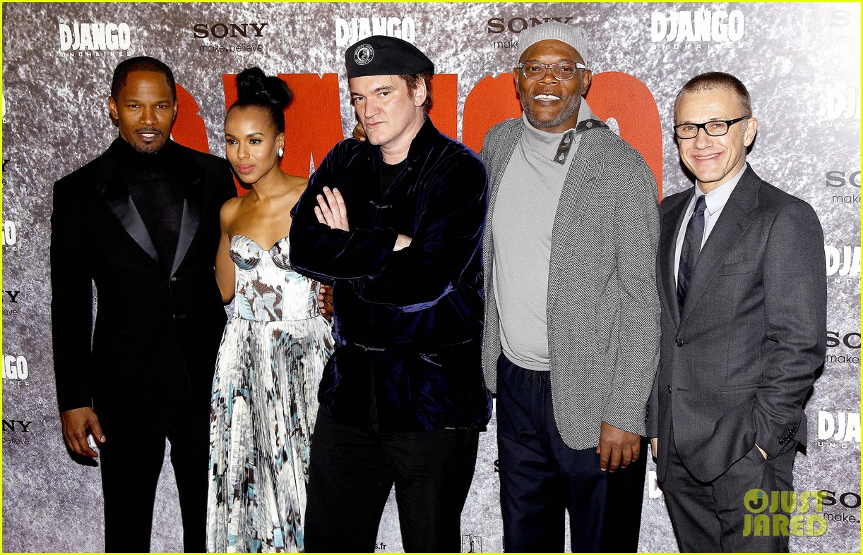 kerry washington jamie foxx django unchained paris premiere 032786408