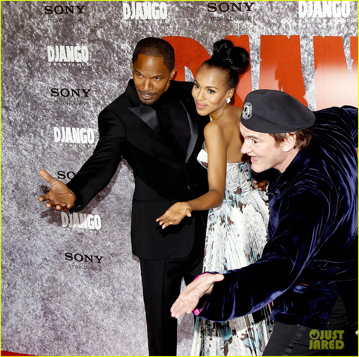 kerry washington jamie foxx django unchained paris premiere 052786410