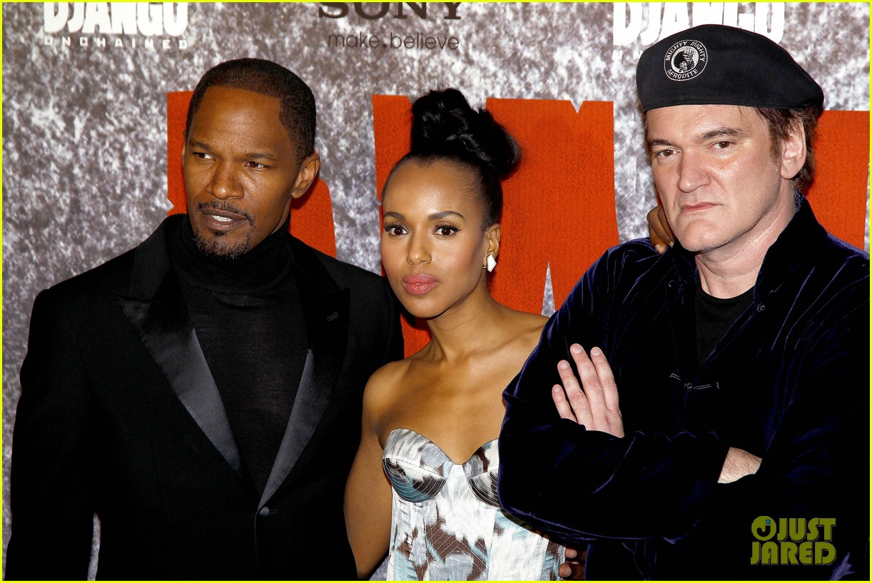 kerry washington jamie foxx django unchained paris premiere 122786417
