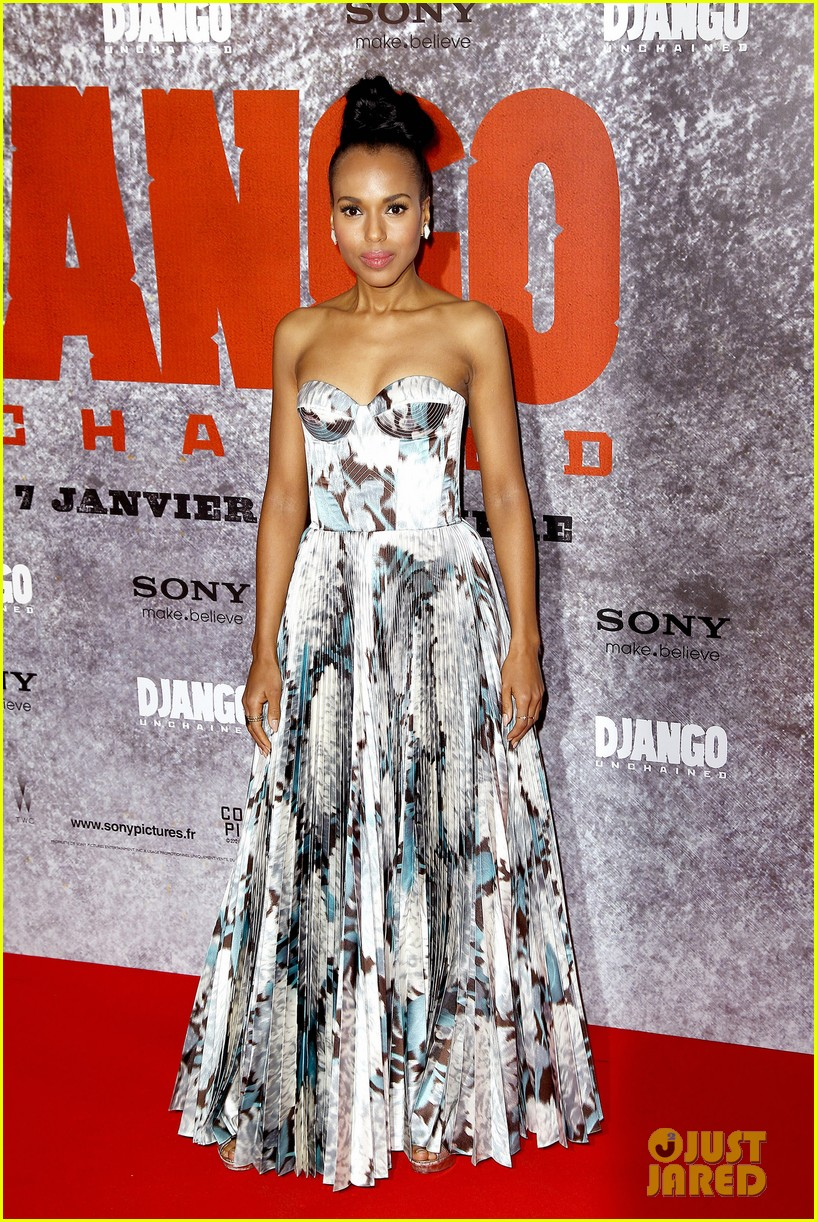 kerry washington jamie foxx django unchained paris premiere 15