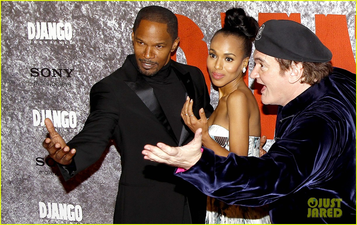 kerry washington jamie foxx django unchained paris premiere 21