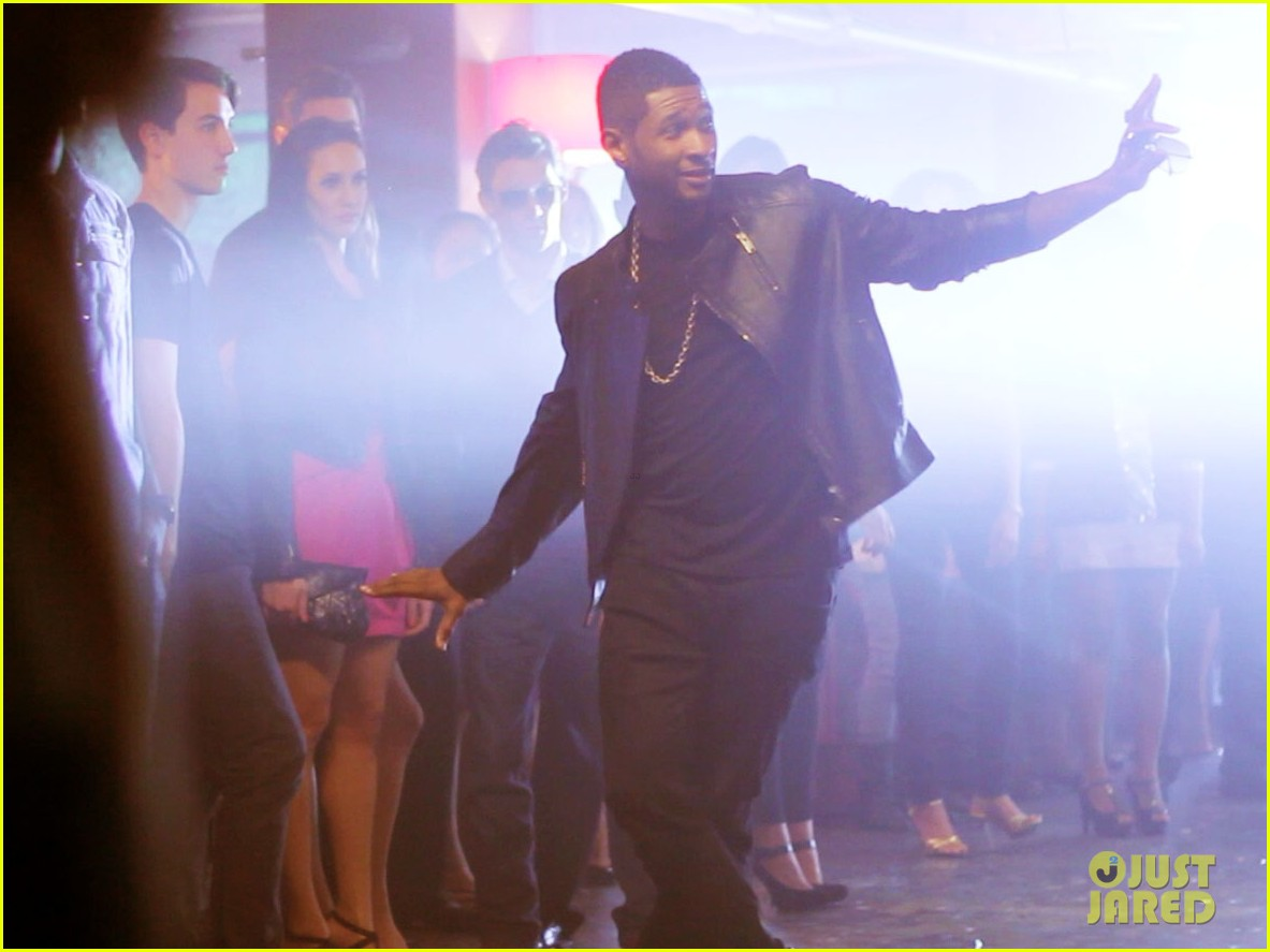 usher mercedes benz super bowl commercial exclusive pics 03